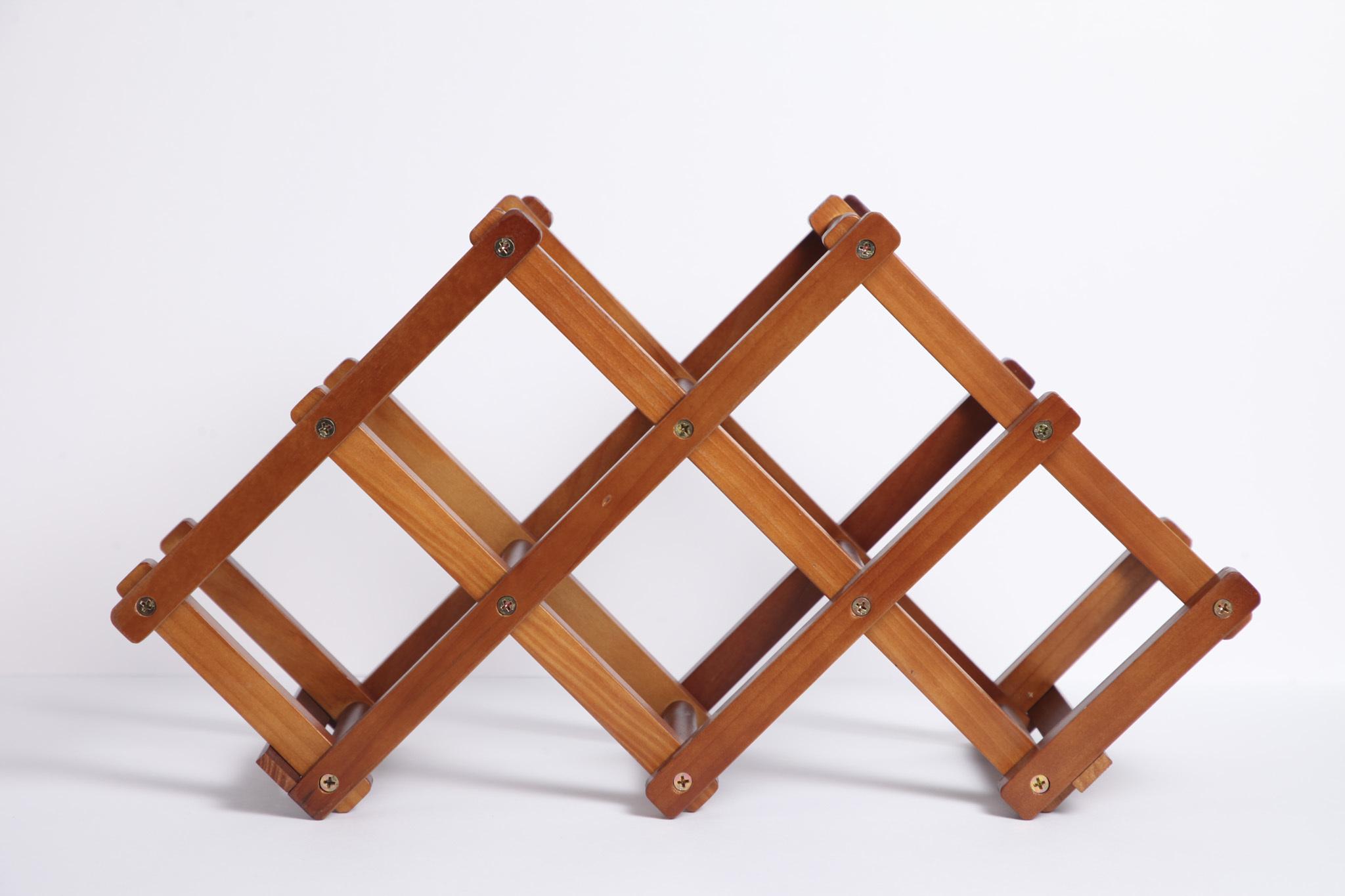 ワインラック 天然木 板尾工芸オリジナル - 画像1