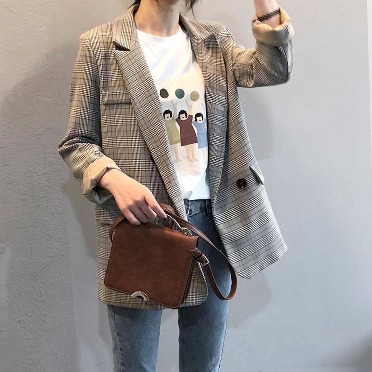 【送料無料 】グレンチェック ♡ きれいめ カジュアル 大人可愛い チェック柄 テーラードジャケット アウター