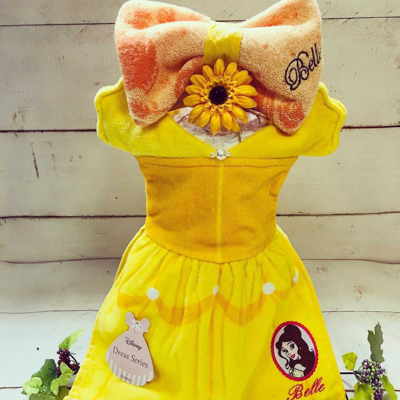 ディズニープリンセス おむつドレス(ベル) おむつケーキ  出産祝い ギフト オシャレ 個性的  かわいい  キャラクター