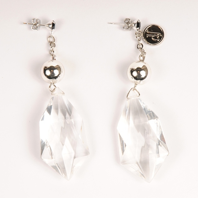 df18AW-J01 DIACUT EARRINGS  A (silver)