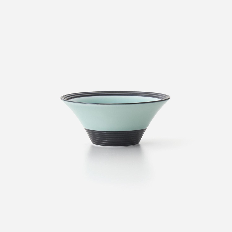 青磁黒彩 広口深小鉢