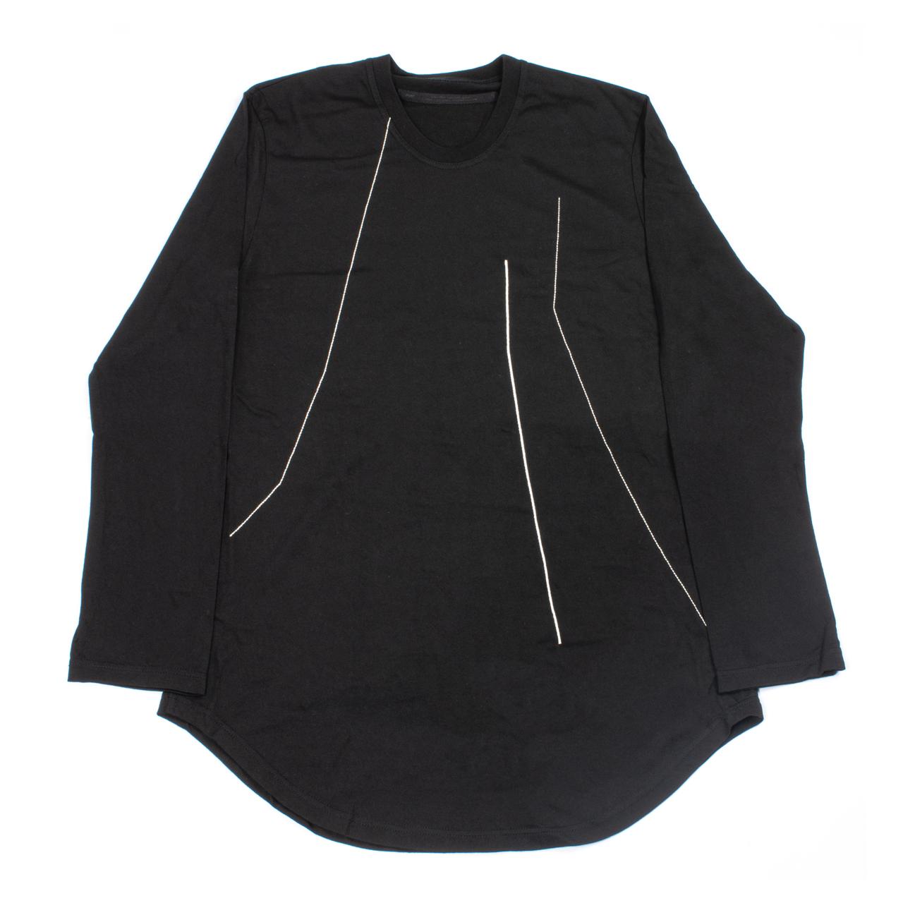 727CUM9-S-BLACK / 刺繍 ロングスリーブ Tシャツ