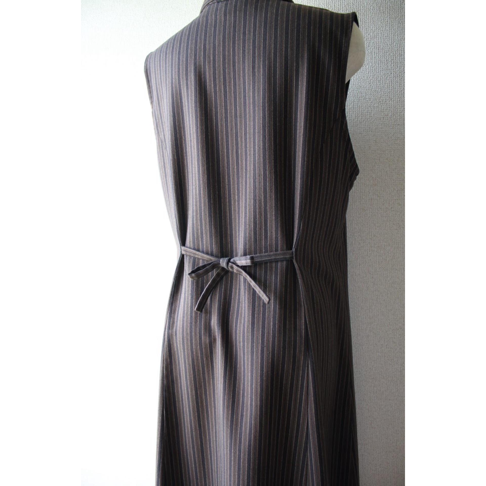Vintage sleeveless stripe dress