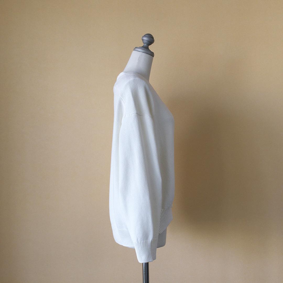 atelier naruse アトリエナルセ cotton low gauge cocoon knit コットンローゲージコクーンニット・オフホワイト