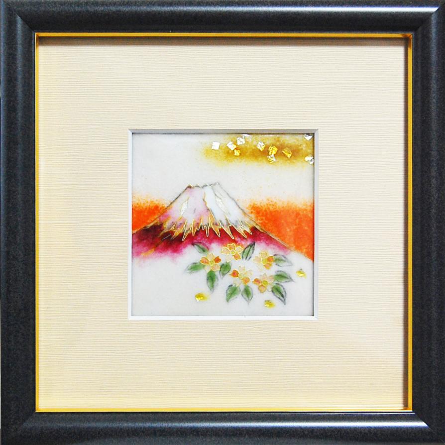 七宝焼 額「富士山」/ 人気作品のリサイズバージョン