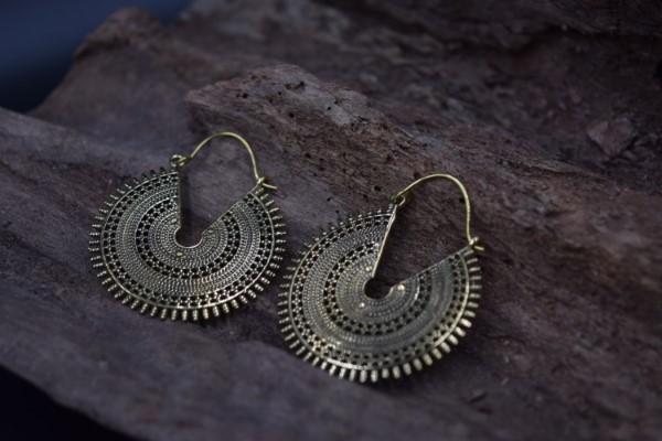 真鍮ピアス -滴り- 【India】