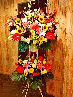st020 スタンド花 ミックスカラー2段