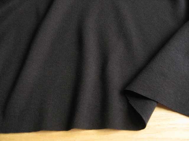 J&B定番 綿コーマ糸フライスニット ブラック #19 NTM-1610