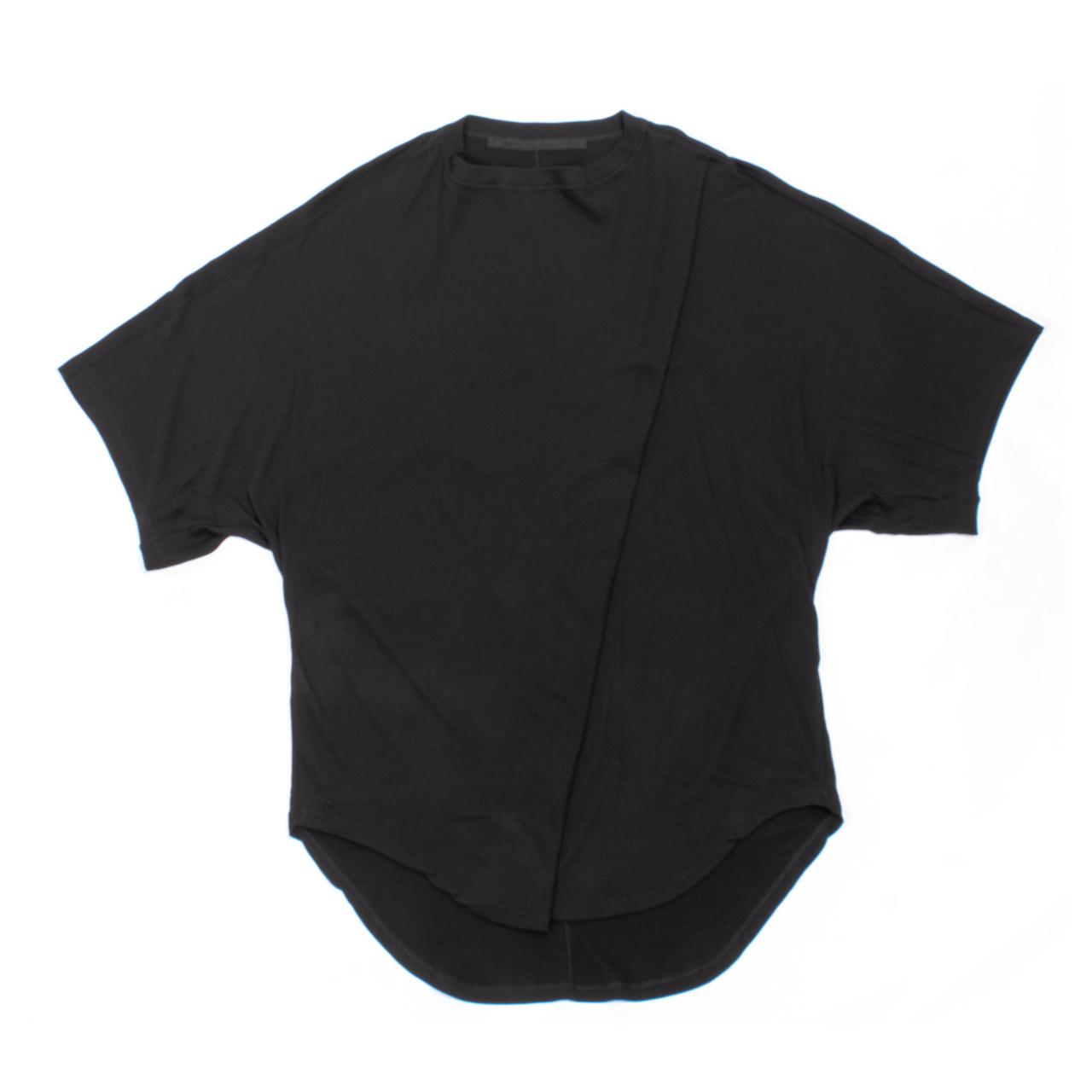 707CUM6-BLACK / ドロップカラー オーバーサイズ Tシャツ
