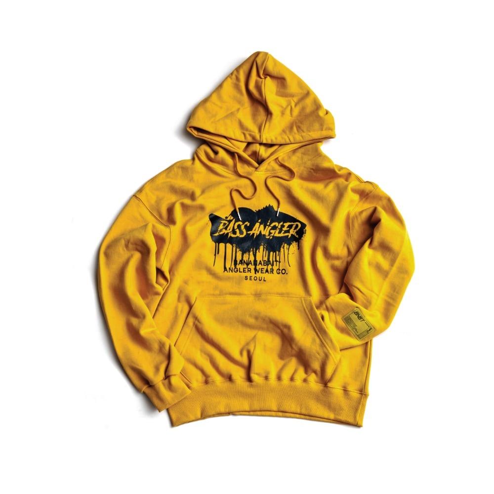 【Banana Bait】Banana Bait Bass Angler Hoodie / Mustard