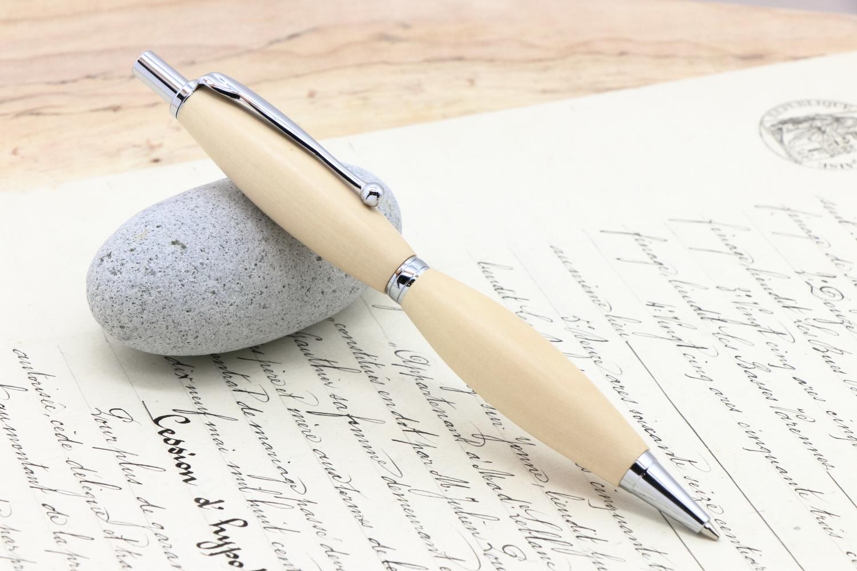 受注制作「長崎そとめ産 聖木 つばき FLP」Viriditas手作りシャープペンシル0.5mm