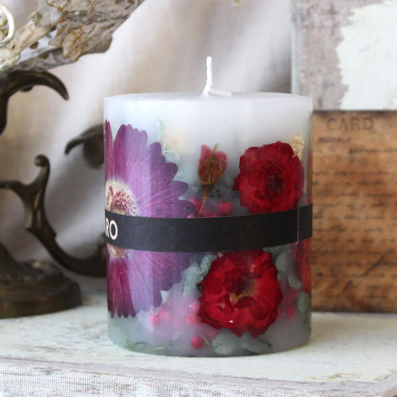 BC625 ガーベラのイエローボタニカルキャンドル ロマンティックガーデンの香り
