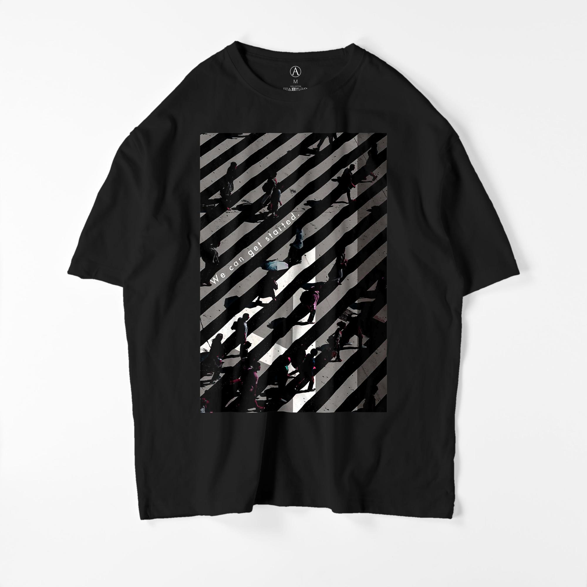 START ビッグシルエットTシャツ ブラック / Mens