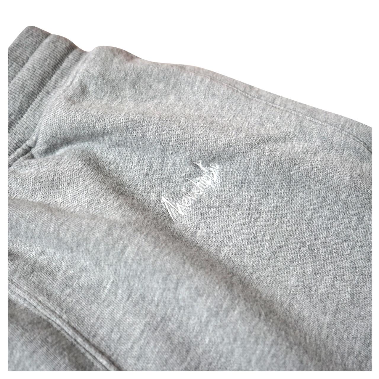 BASIC LOGO 019 light sweat pants <Gray×White> - 画像2
