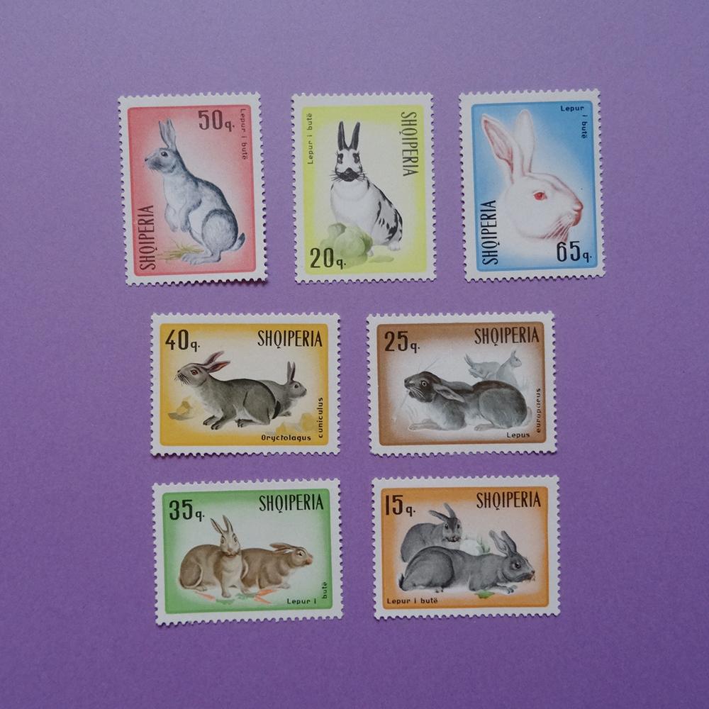 チェコ うさぎの切手セット