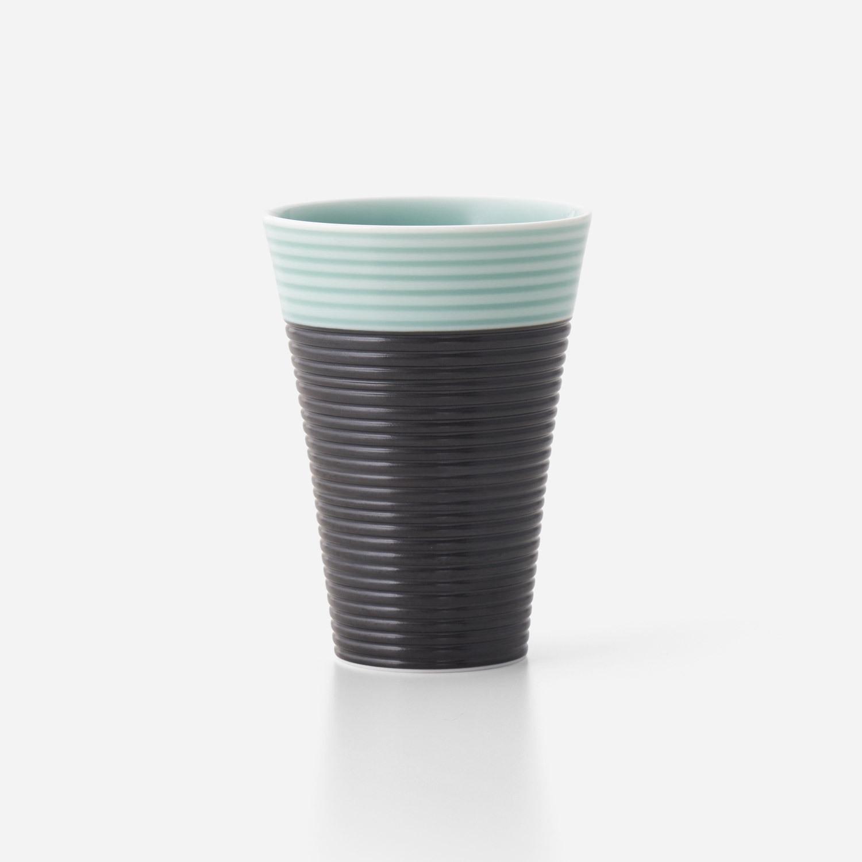 青磁黒彩 フリーカップ (大)