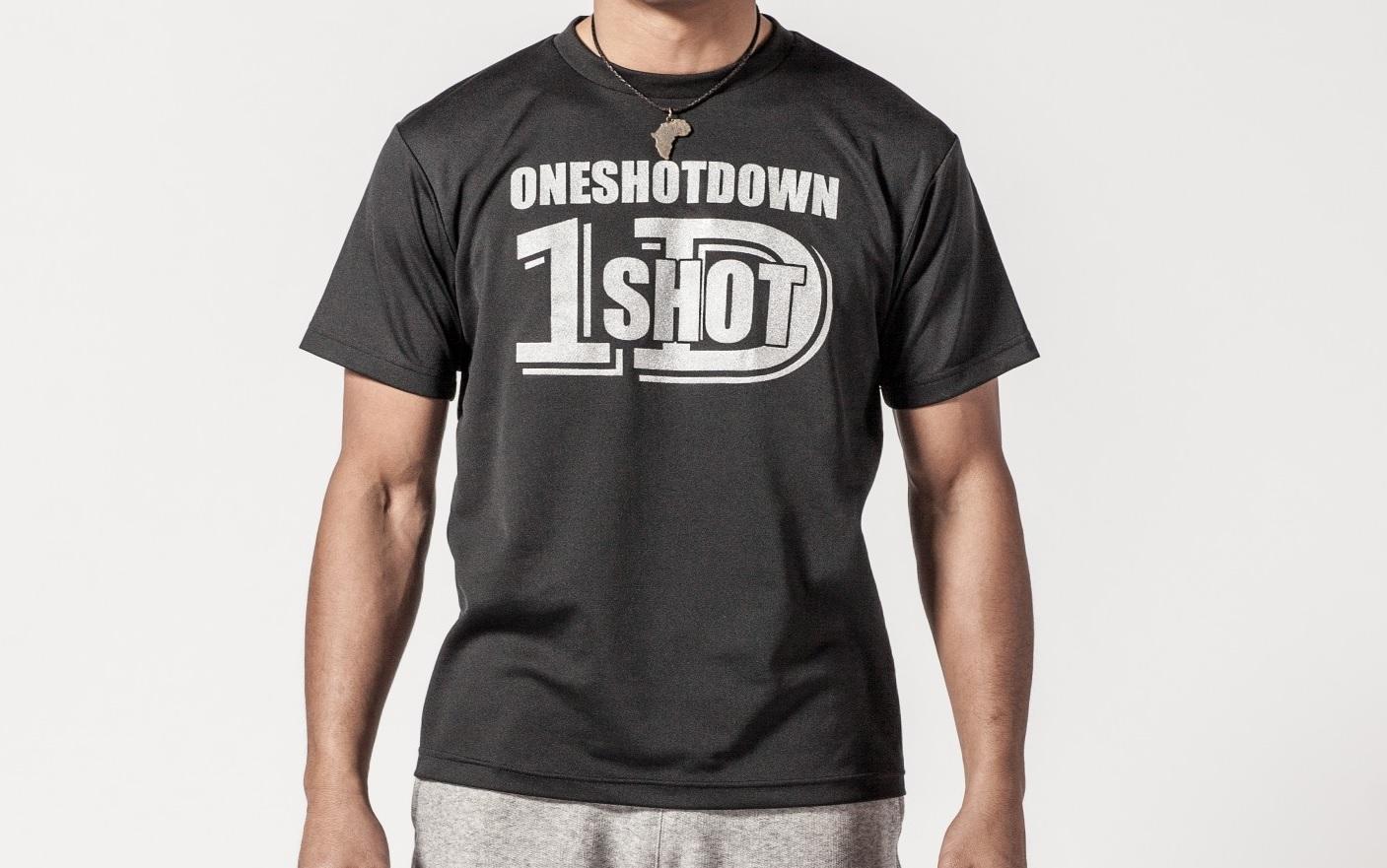 ONESHOTDOWN ロゴ ドライTシャツ - 画像2