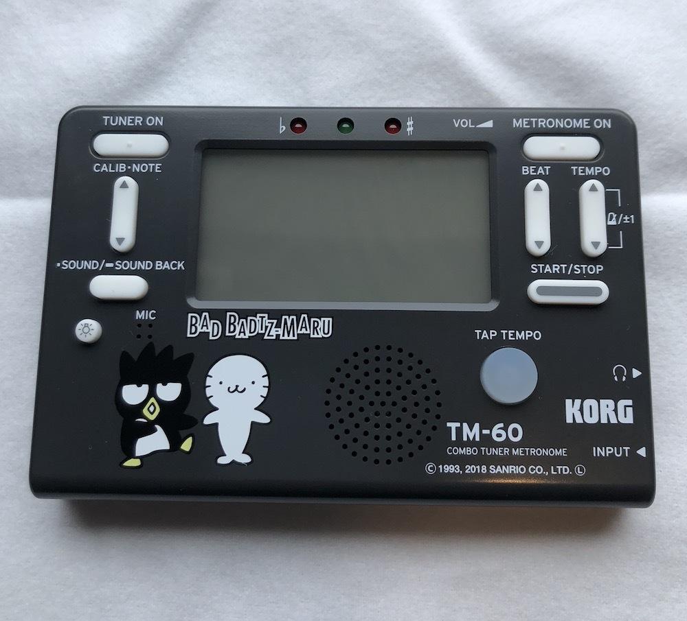KORG(コルグ)/TM-60-SXO バッドばつ丸 チューナーメトロノーム