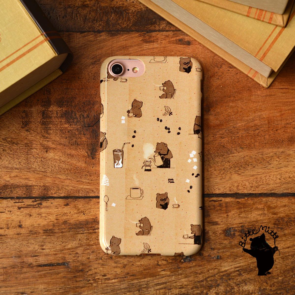 iphone8 ハードケース おしゃれ iphone8 ハードケース シンプル iphone7 ケース かわいい ハード くま クマカフェの一日/Bitte Mitte!