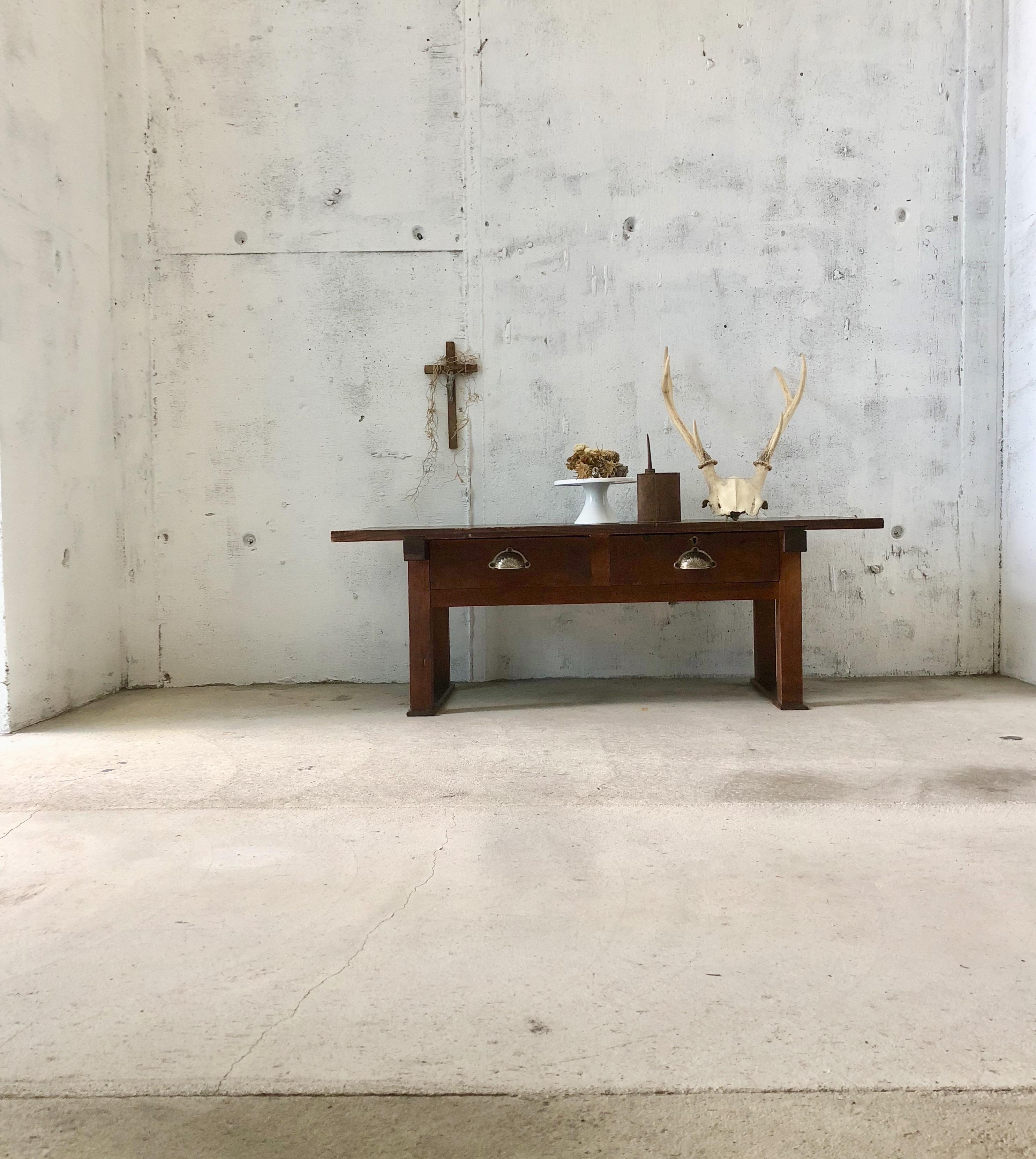 横長いローテーブル[古家具]