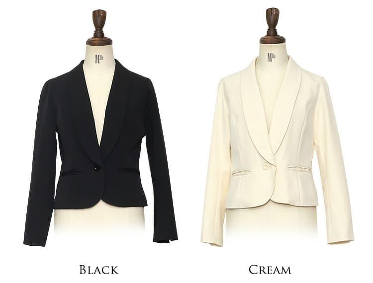 マニッシュジャケット Sサイズ~Lサイズ ブラック クリームベージュ