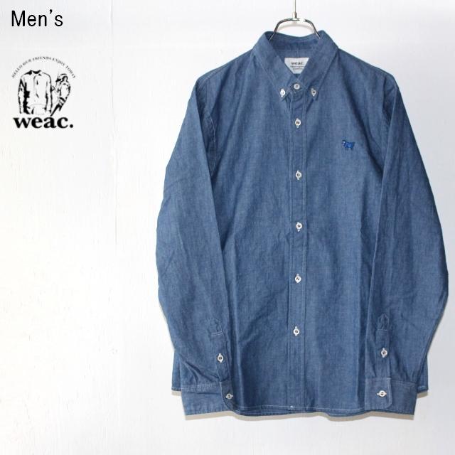 weac. ボタンダウンシャツ PUGCHAN (ブルー)