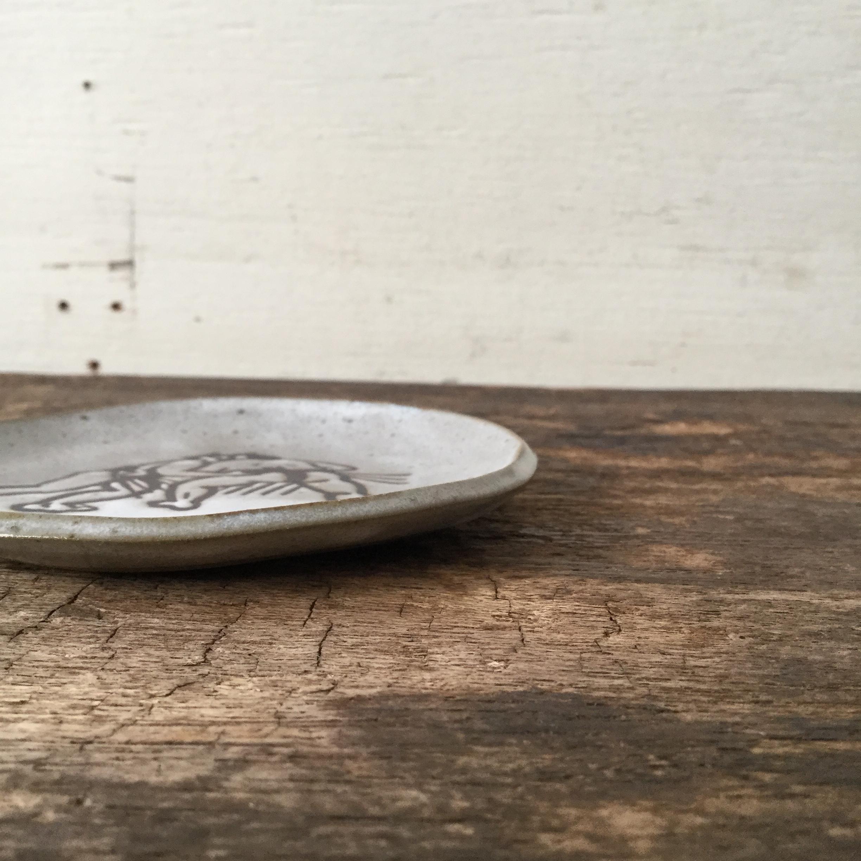 清水直子 / 小皿 相撲 SN-14 - 画像4
