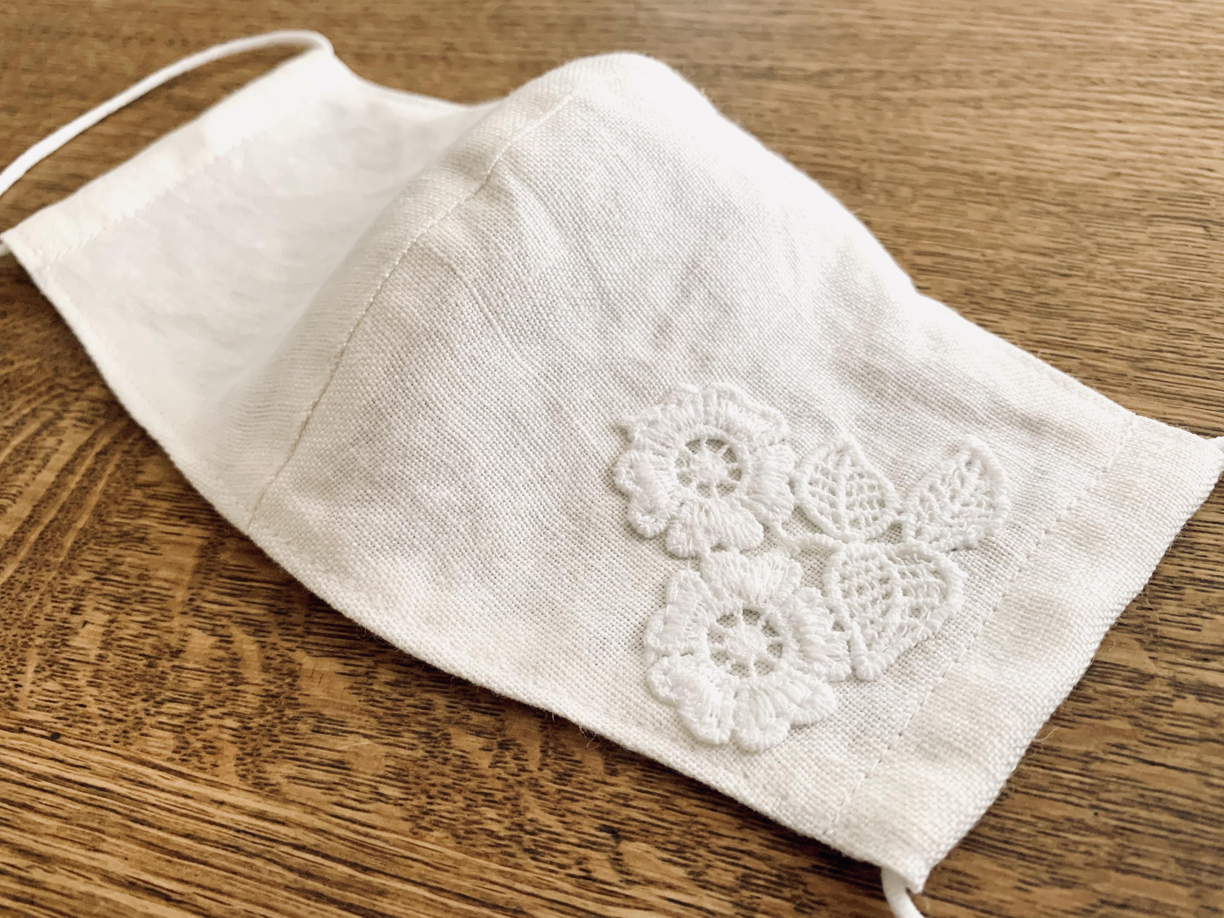 大人のレースマスク② side lace twinflower