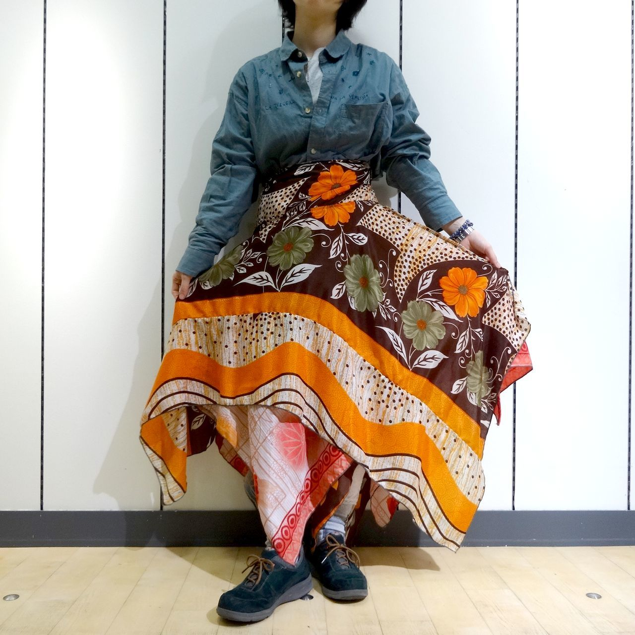 vdsz-005  ビンテージシルクサリーギザスカート「レトロモダン」
