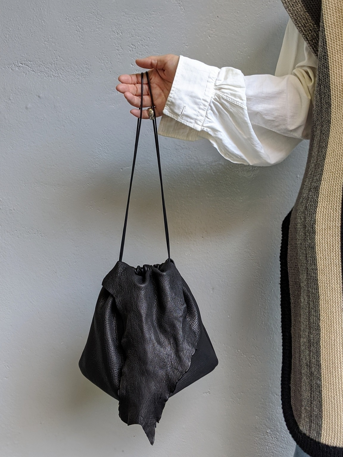 【再入荷】Deer Skin Bag - Black