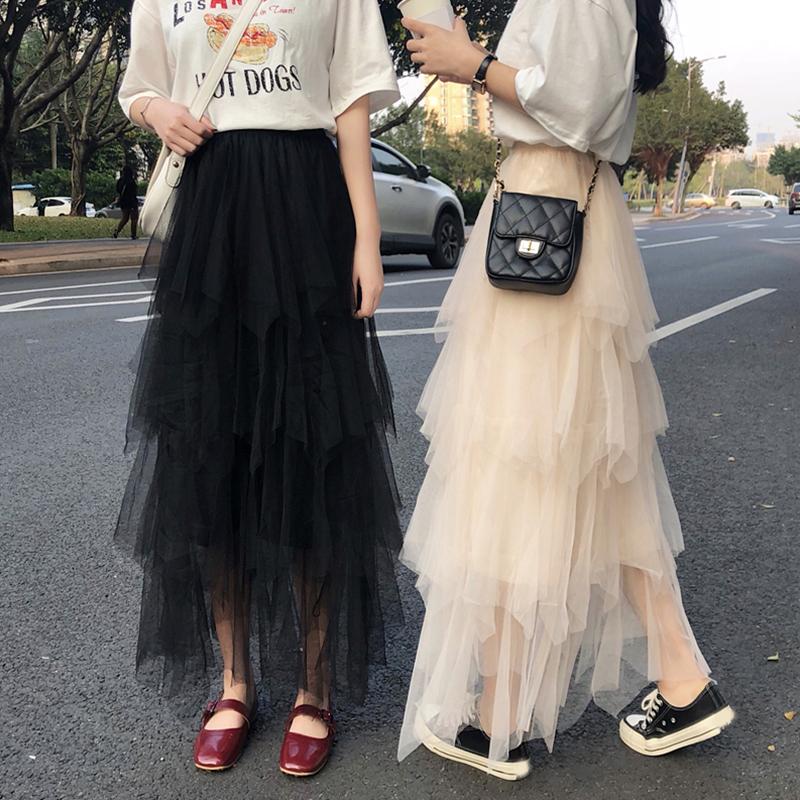 【bottoms】気質アップファッションロングスカート20696970