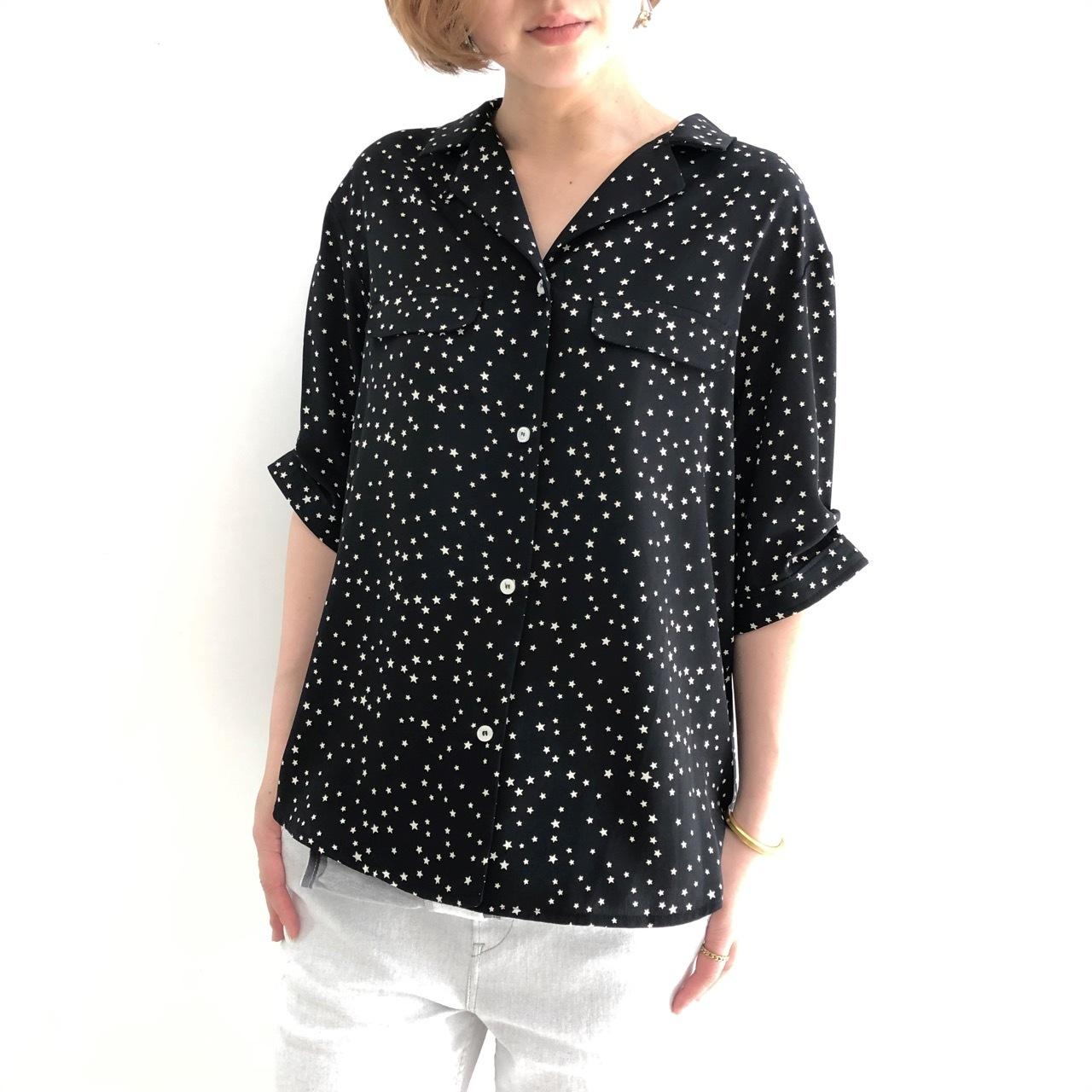 【 CYNICAL 】- 912-95121 - スターオープンカラーシャツ