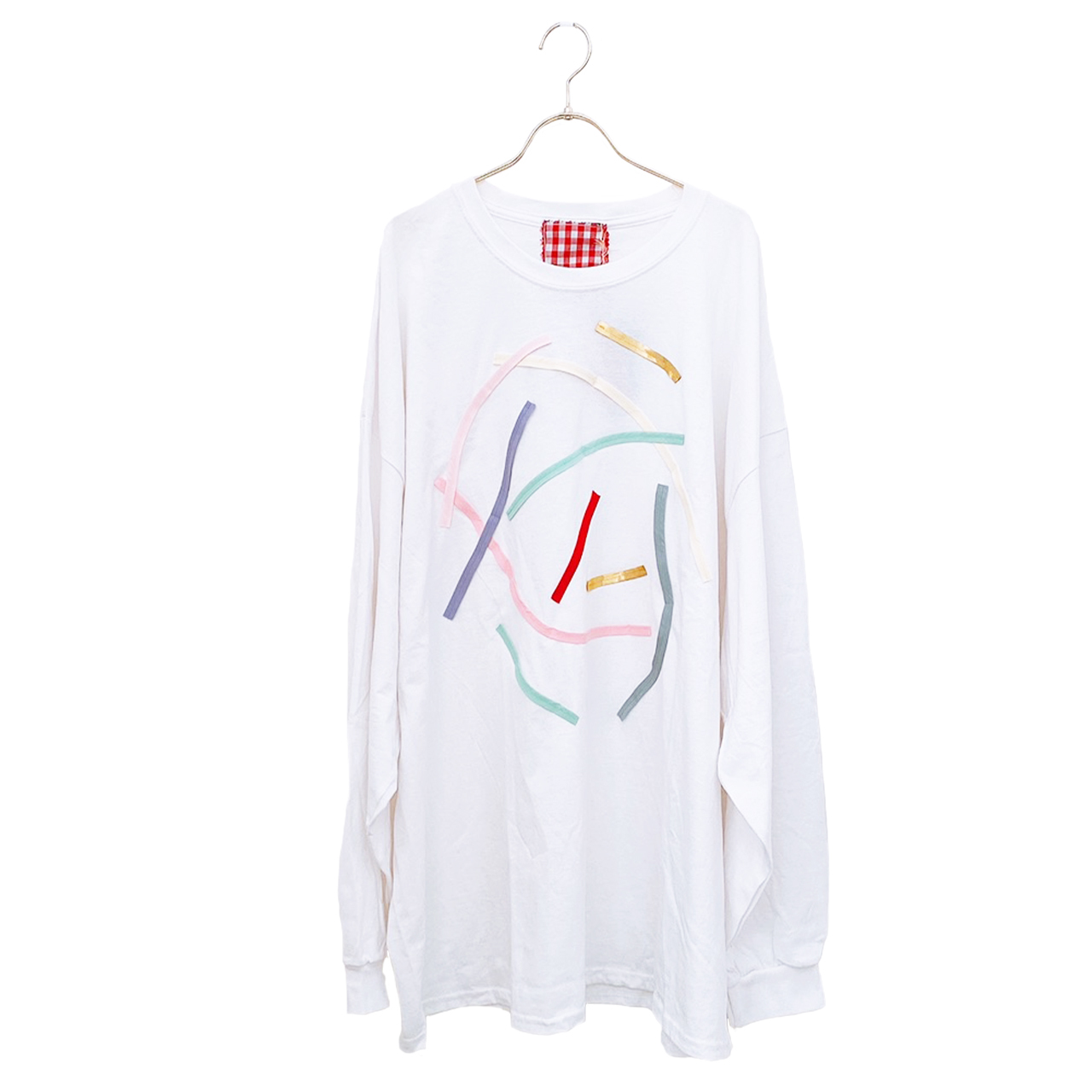 arere / BIG LONG T-SHIRT - WHITE
