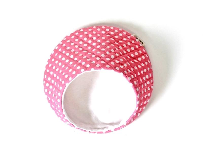 ハリちゃんのおやすみベッド(夏用) 水玉 ピンク