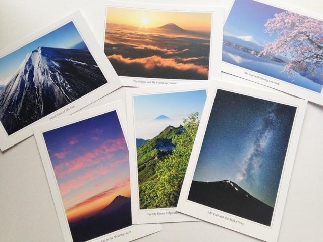 【送料無料キャンペーン!】富士山写真家オイ 富士山カラーポストカード6枚セット | 富士山とともに WEBショップ