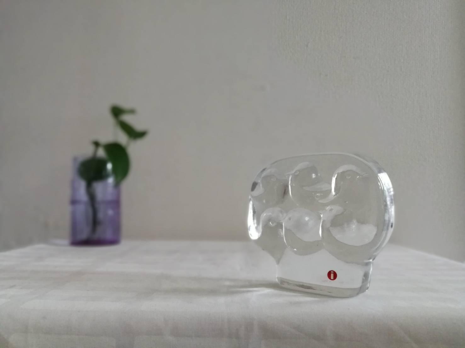 ガラス オブジェ / イッタラ ヴィンテージ /鳥たち