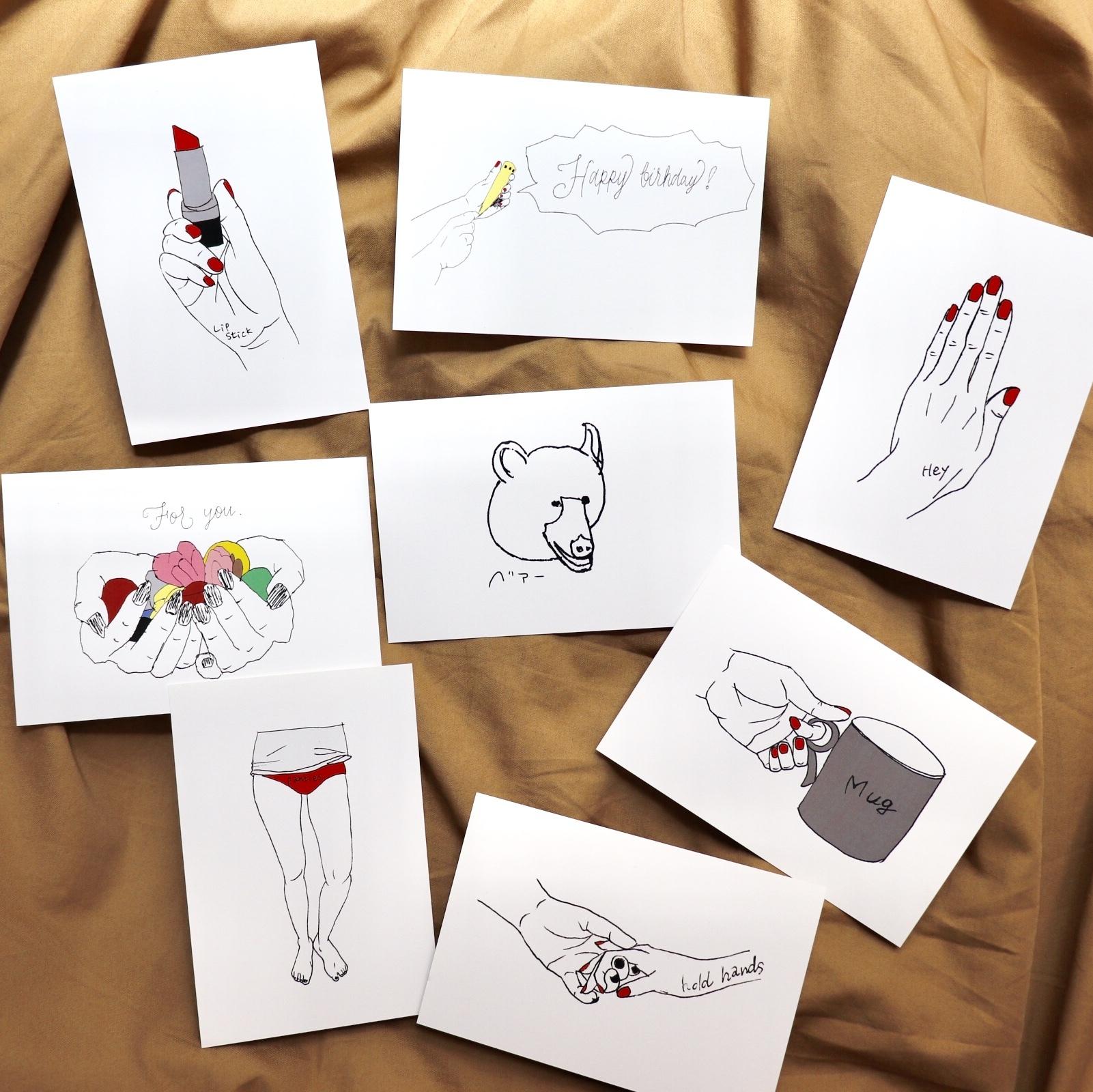 選べるポストカード5枚<12種類>