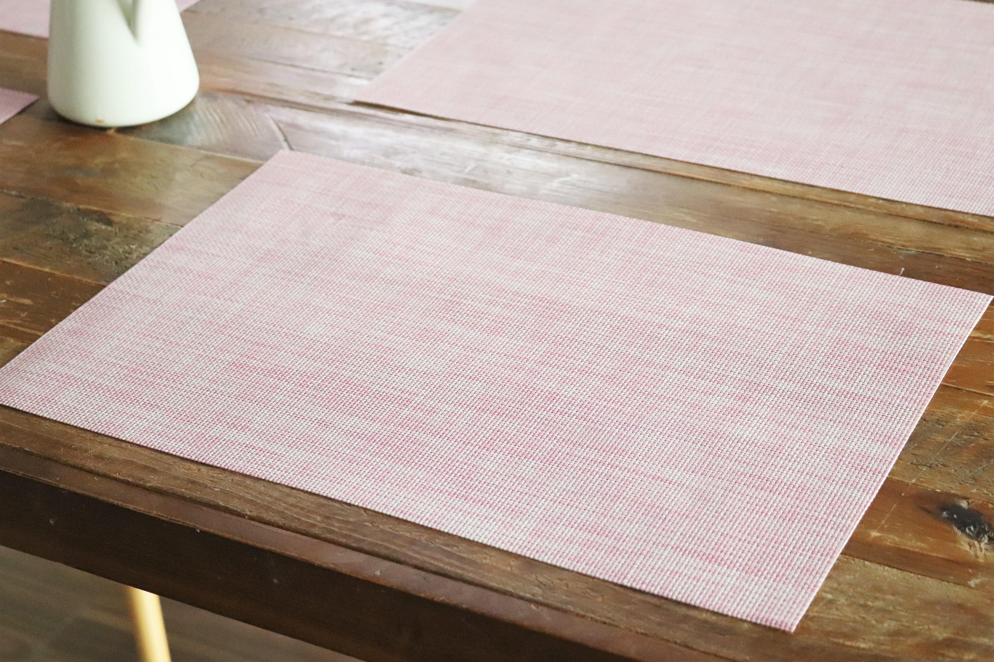 撥水PVC セサミピンク ランチョンマット 2枚セット