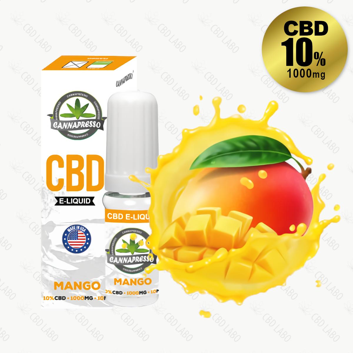 【送料無料】CANNAPRESSO CBDリキッド マンゴー 10ml CBD含有量1,000mg (10%)