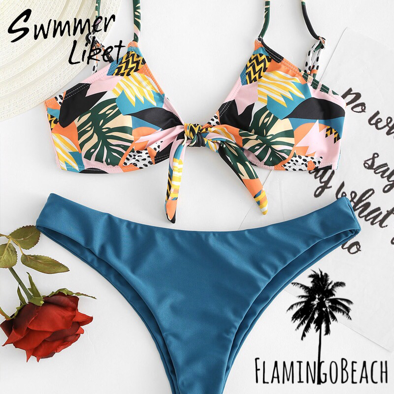 【FlamingoBeach】pattern bikini ビキニ