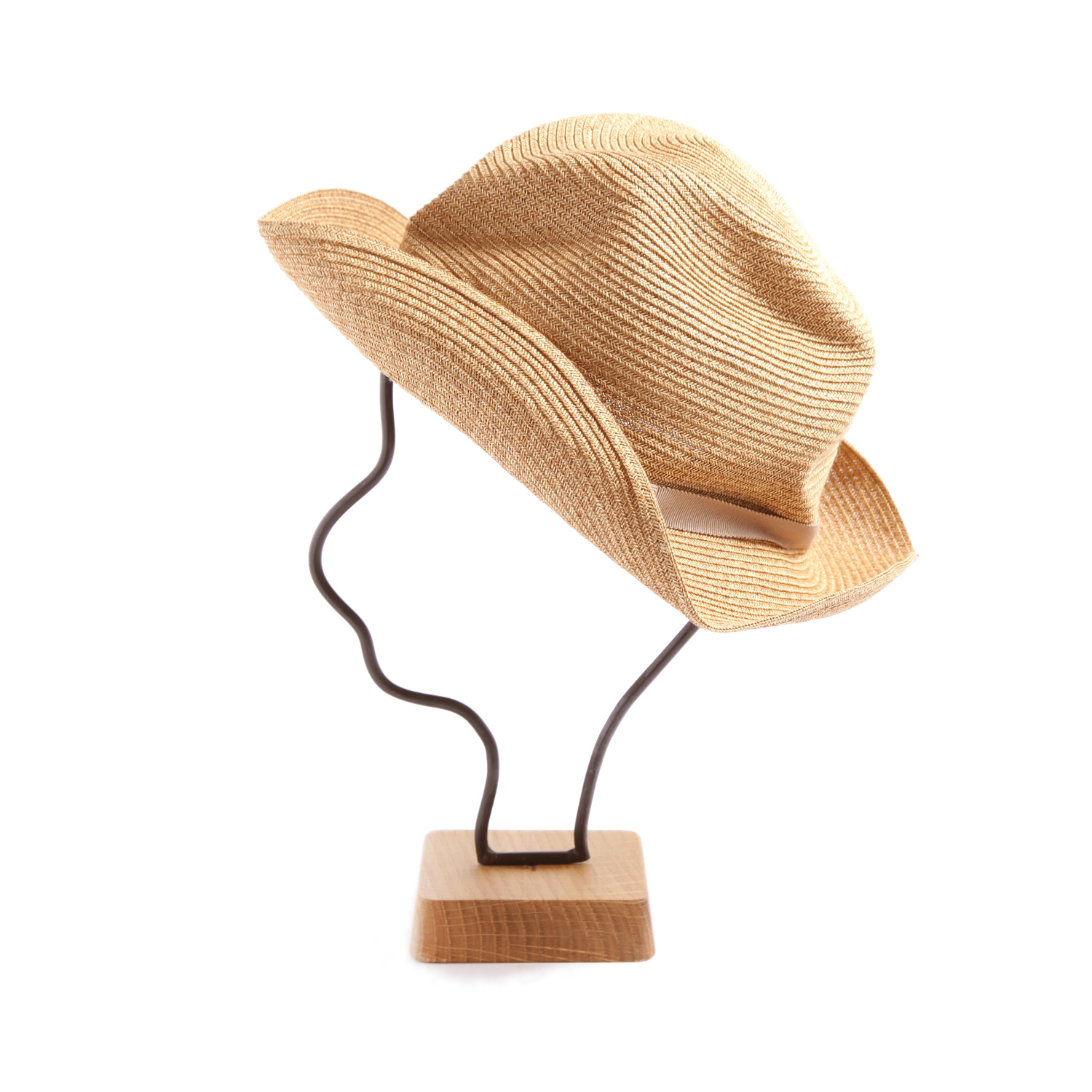 mature ha./BOXED HAT 105 mixbrown×pink beige