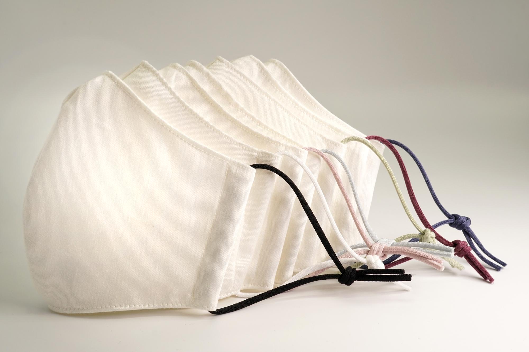 【選べる7色】上品カラーゴム紐の洗える布マスク【男女兼用】