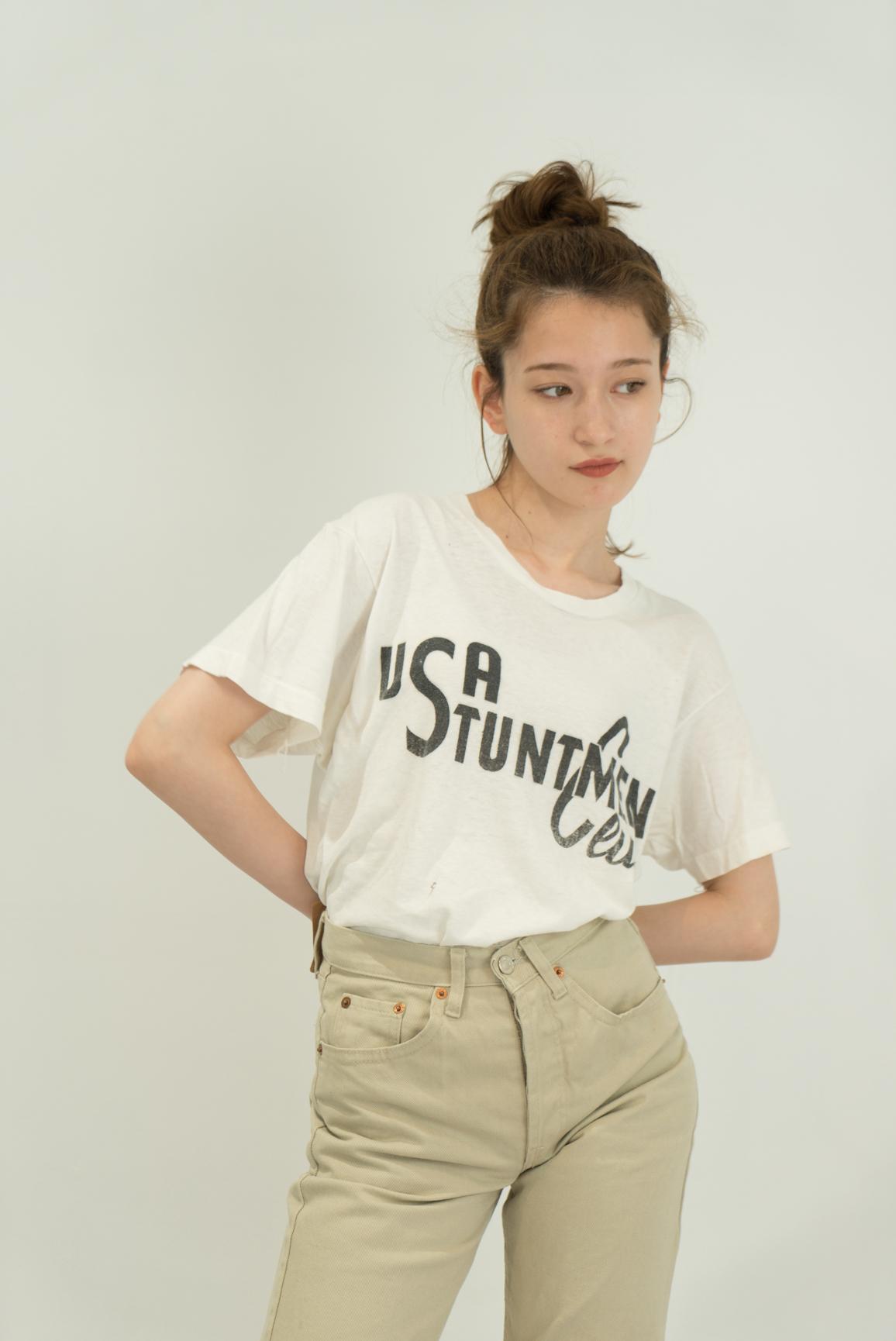 ◼︎80s vintage USA STUNTMEN CLUB T-shirts from U.S.A.◼︎
