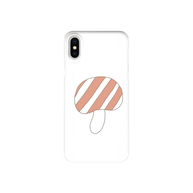 きのこさん、しましま (iPhone case)