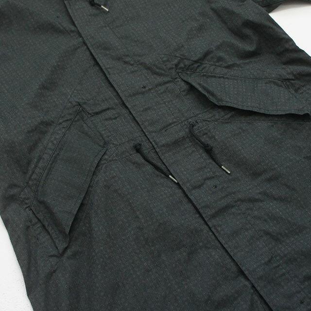 dead stock デッドストック フードロングコート(ブラック後染め) (品番d-1004)