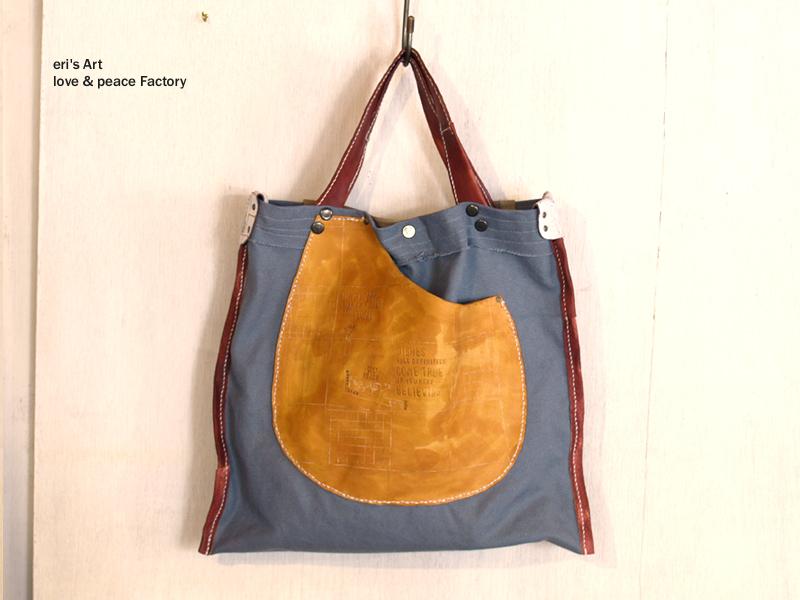 バッグ 帆布+革 bag‐094