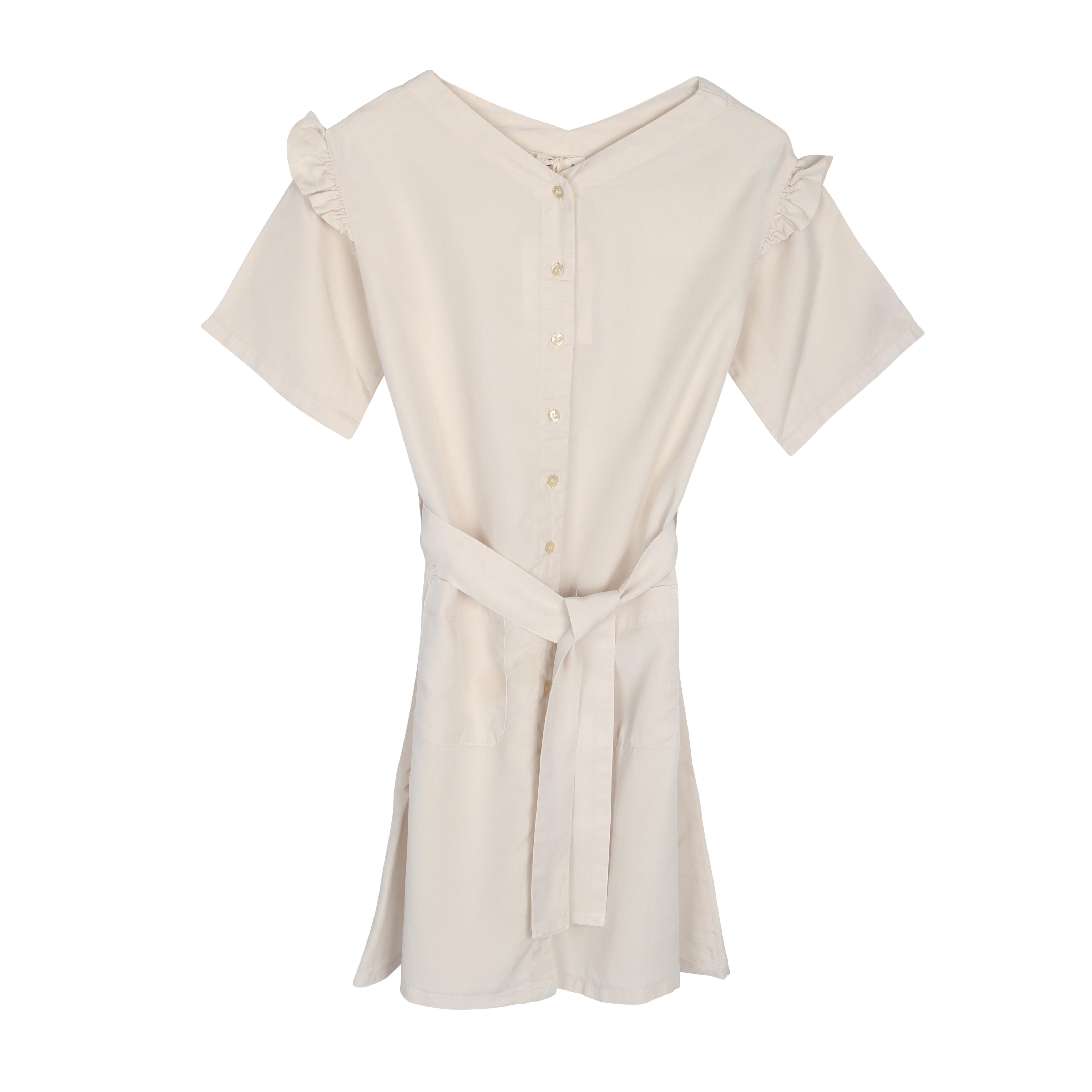 THE BIBIO PROJECT TIE DRESS(WHITE SWAN)