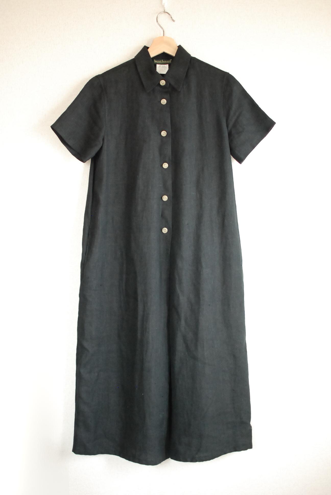 【WOMEN'S】Used Black Linen One Piece Dress