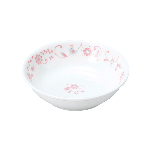 強化磁器 小皿 サラサ・ピンク 【1009-1310】