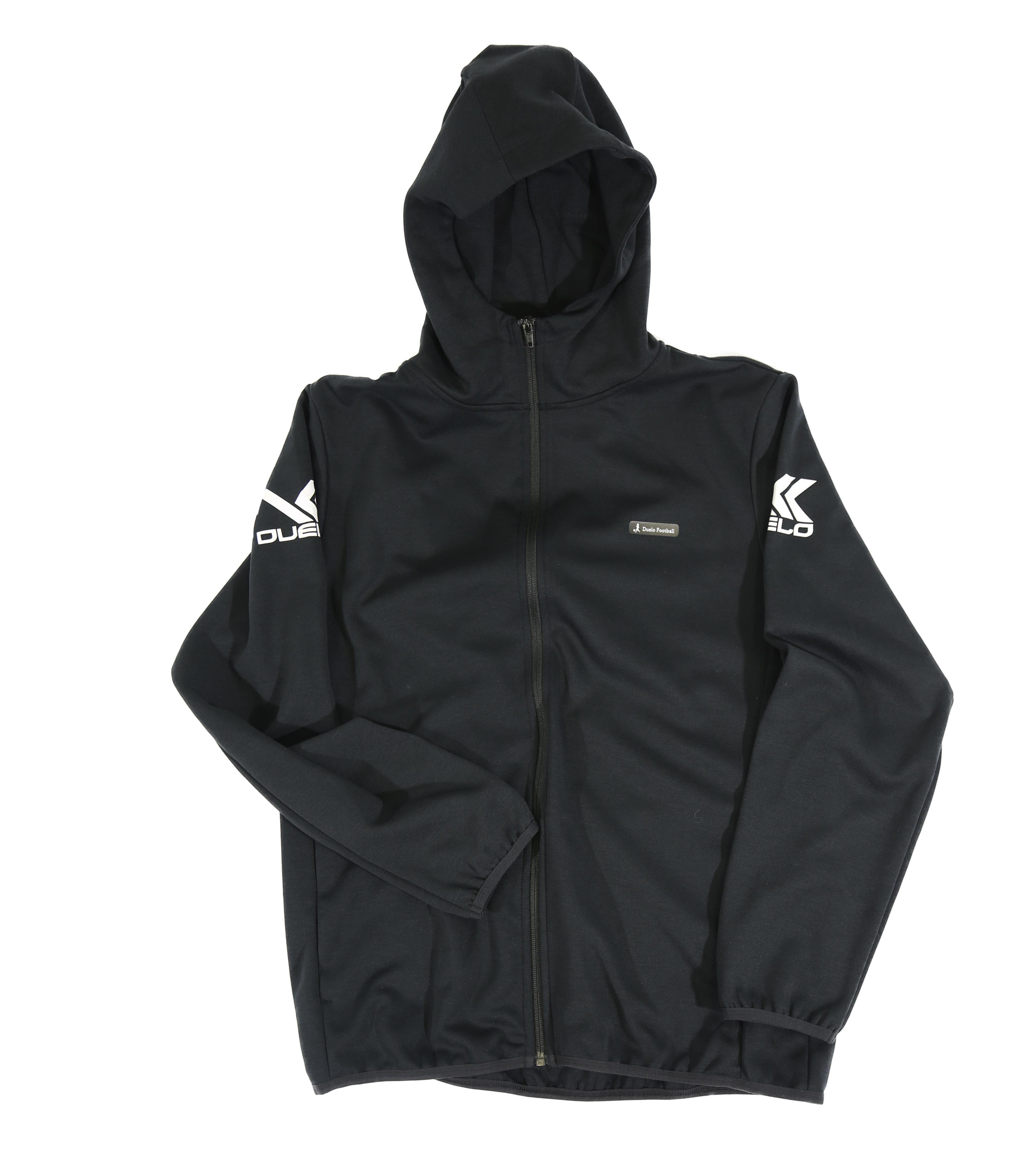 20010 Hood zip sweat top BLK